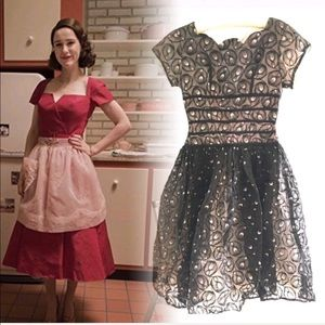 VINTAGE 50s charming puff skirt dress. Maisel